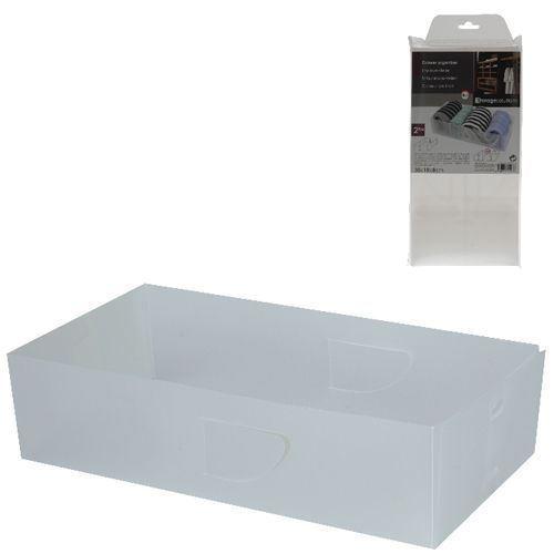 2 Piece Drawer Organiser Wardrobe Closet Organizer Storage Solution