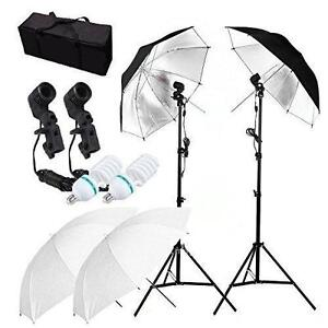 Photo Studio Video Umbrella Light Lighting Stand Kit Éclairage Ensemble Lumière Parapluie 2314