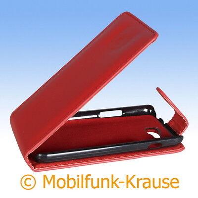 Flip Case Etui Handytasche Tasche Hülle f. LG L90 (Rot) (Lg L90 Handy-hülle)