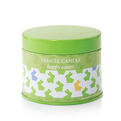 New  Yankee Candle Happy Easter Tin Jar White Chocolate Vanilla Bunny Rabbit