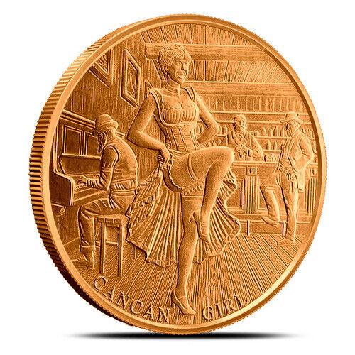 1 oz Copper Round - Cancan Girl