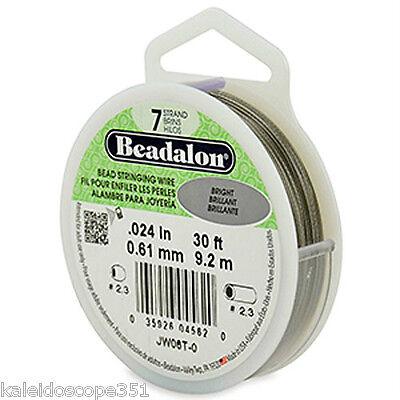 Beadalon 7 Strand Jewelry Wire .024 Bright 30 Ft Roll Beading Jewelry Wire JW06T