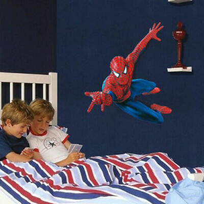 Superhero Spiderman Mural Wall Decal Sticker Kids Nursery Room Decor DIY PVC 3D](Superhero Decor)