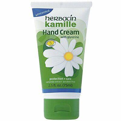 HERBACIN Kamille glycerine camomile HAND CREAM 2.5oz paraben free UNSCENTED