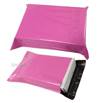 1000 Pink Postal Bags Mailing Parcel Plastic Strong Poly 14