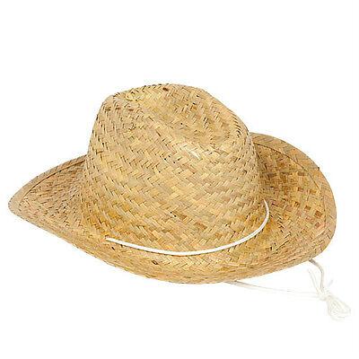 Straw Hats Cowboy  - Set of 12- western party Tan Colored  Barn Dance  - Barn Dance Decor