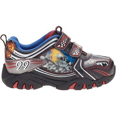 New Kids Toddler Boy's Light-up Skull Shoes Athletic Sneakers SZ 7 8 9 10 11 ()