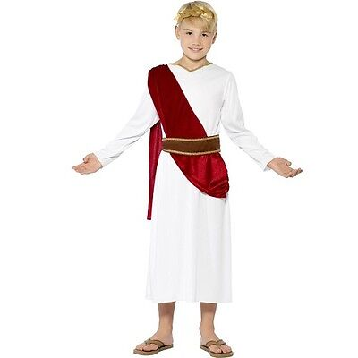 Jungen Römischen Kostüme (Kinder Jungen Römisch Maskenkostüm Kinder Cäsar Outfit Greek von Smiffys)