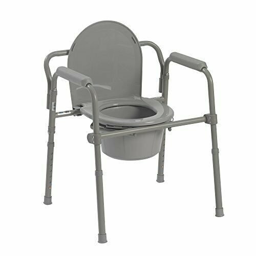 adult toilet seat potty chair folding portable