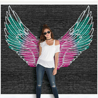 ANGEL WINGS GIANT WALL POSTER DECORATING KIT ~ Birthday Party Supplies Punk Rock