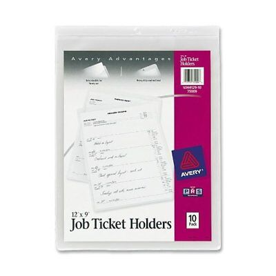 Avery Job Ticket Holder - 9 X 12 - Vinyl - Clear - 10 Pack Ave75009