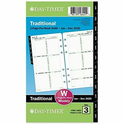 Day-timer 2020 Weekly Planner Refill Two Pages Per Week 3-34 X 6-34 Porta