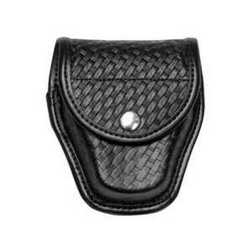 Bianchi 22178 Black 7917 Basketweave Accumold Elite Doubled Handcuff Cuff Case