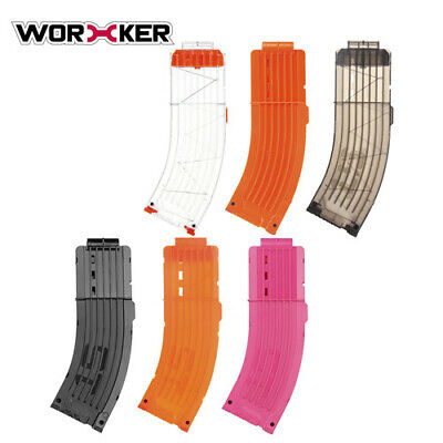 Worker4Nerf 15-Dart AK Style Magazine for Nerf & Worker Blaster (6 colors)