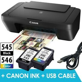 NEW CANON PIXMA MG2550 PRINTER WITH INK & USB CABLE PRINT COPY SCAN LAPTOP OR PC 12 MONTHS WARRANTY