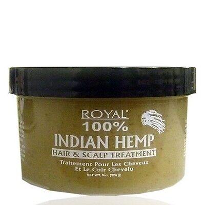 Royal 100% Indisch Hanf Haar und Kopfhaut Behandlung 227g - Hanf Kopfhaut Behandlung