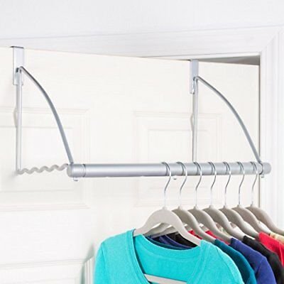 Over The Door Clothes Hanging Bar Valet Hanger Rack Hook For Clothes