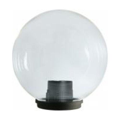 LAMPIONE GLOBO SFERA GIARDINO 300mm TRASPARENTE IP44 TESTA PALO DA 60 PMMA