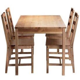 Ikea table x4 chairs