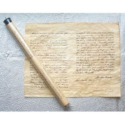 ABE LINCOLN GETTYSBURG ADDRESS  23 X 29 TUBE Genuine Parchment new 37405