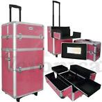 Aluminium make-up, cosmetica, nagel, trolley CROCO