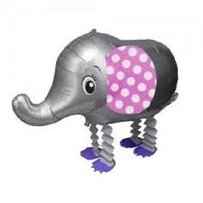 GRAY ELEPHANT WALKING BALLOON FOIL HELIUM PET PARTY ZOO AIR PARTY BIRTHDAY GREY