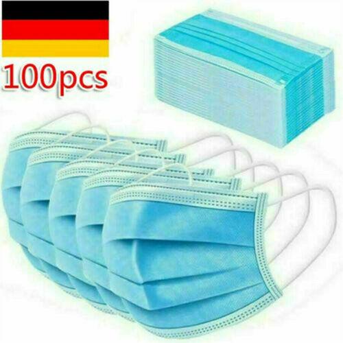 FFP 2 Atem Mundschutz 3-lagig Schutzmaske Gesichtsmaske Atemschutzmaske 10X-100X