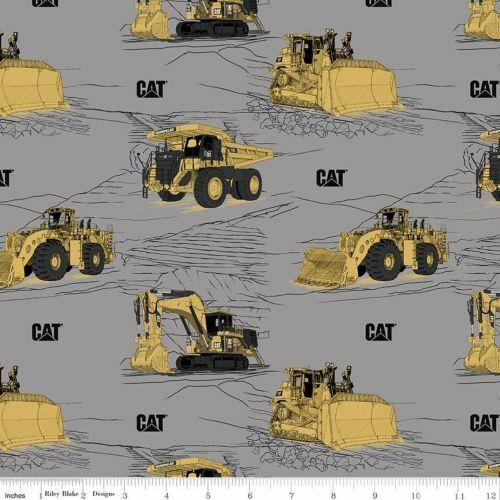 CAT By Riley Blake Designs - Grey Equipment  #C9100