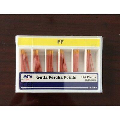 Meta Gutta Percha Points - Fine-fine Color Coded Sterile 120box