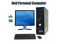 "Complete Dell desktop, Windows 10, Core 2 Duo 2.93ghz CPU, 4GB RAM, 250GB HDD, 17"" TFT"