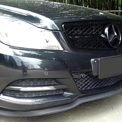 mercedes benz front bumper lip splitter chin spoiler body kit valance trim wing mercedes cla forum. Black Bedroom Furniture Sets. Home Design Ideas