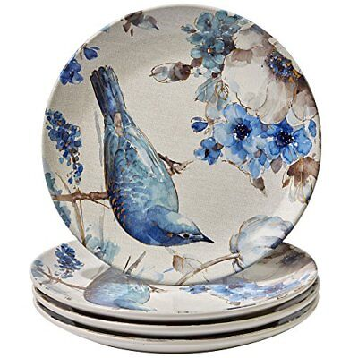 "Certified International Indigold Bird Dinner Plates , 11"", M"