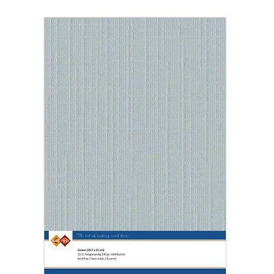 (EUR 4,81/m²) Leinenkarton 10xA4-Bogen grau 25