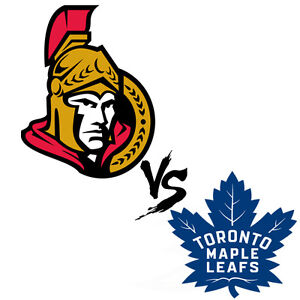 OTTAWA SENATORS vs. TORONTO MAPLE LEAFS (Tickets 4 SALE!!!)