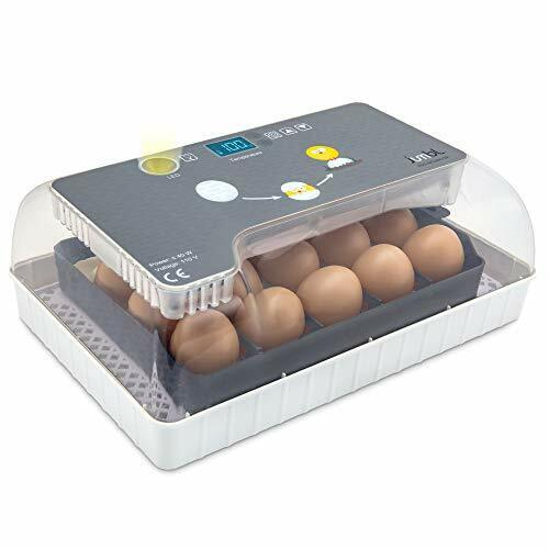 Jumbl Egg Incubator, Automatic Digital Poultry Hatching Machine w/ Temp Control