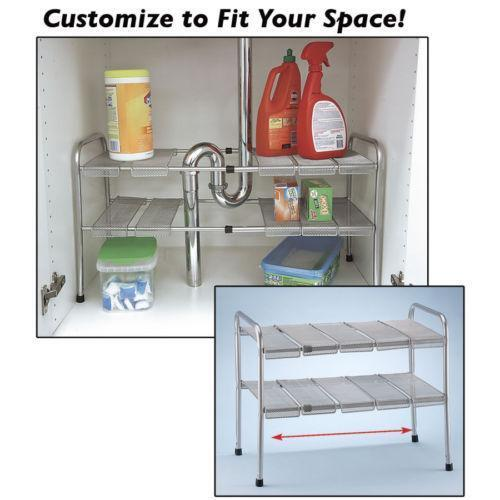 under sink organizer kitchen sink shelf home amp garden ebay 6566