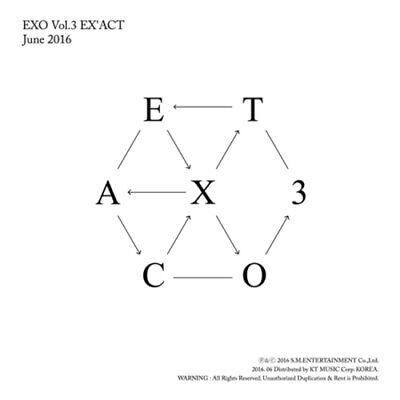 EXO - EX'ACT [KOREAN VER.] (Vol.3) Random CD+Photobook+Free Gift /EXPRESS SHIP