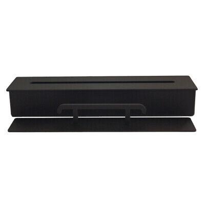 Bio Ethanol Burner Firebox Steel Black for Fireplace Table Decoration 1l / 33 cm