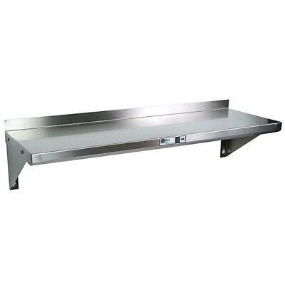 Stainless Steel Wall Shelving - 36wx16d Shelf