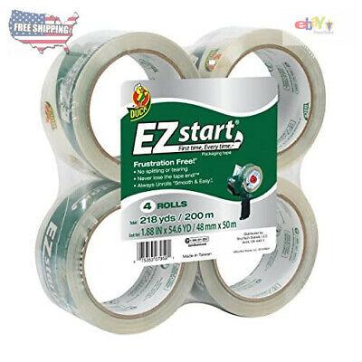 Duck Brand Ez Start Packing Tape Refill 4 Rolls 1.88 Inch X 54.6 Yard Clear