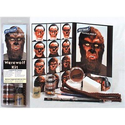 Werewolf Makeup Kit Professional Wolf Beast Brown Creme Graftobian Halloween