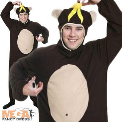Monkey Adults Fancy Dress Jungle Book Day Animal Mens Ladies Costume Outfit - Jungle Book Costumes Adults