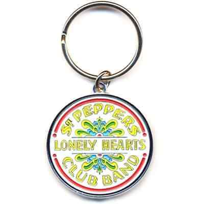 Beatles/Apple Key Ring/ keychain - Sgt. Pepper - Metal keyring.