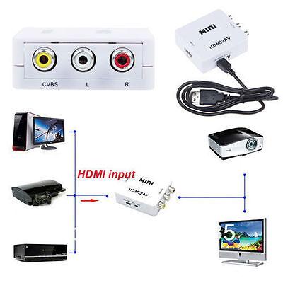 HDMI to AV CVBS Video Audio Signal Converter Adapter For TV VHS VCR DVD