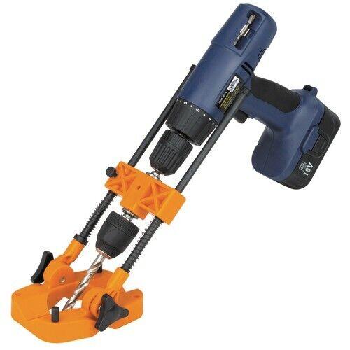 """Portable Drill Press Multi-Angle Guide Attachment 3/8"""" And 1"""