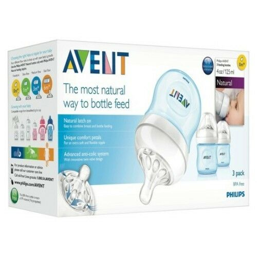 Philips AVENT Natural Bottle Set 3PK - 4oz