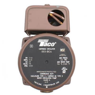 Taco 003-bc4 12 Sweat Bronze Cartridge Circulator Pump 140 Hp