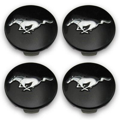 Ford OEM Black Wheel Center Caps FR3C1A096AB FR3C1A096AC MUSTANG Set of 4 Mustang Wheel Caps
