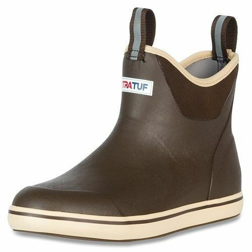 """XTRATUF Performance Series 6"""" Men's Ankle Deck Boots, Brown & Tan 22734"""