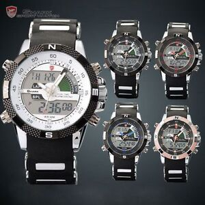 SHARK-Analog-Digital-Date-Dispaly-Mens-Sport-Quartz-Rubber-Military-Watch-Box